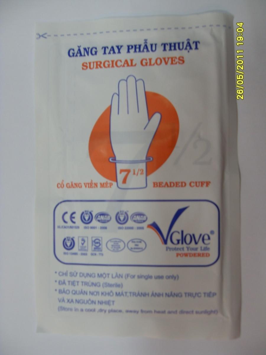 Găng tay phẫu thuật tiệt trùng VGlove