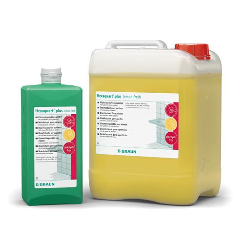 Dung dịch tiệt trùng và tẩy rửa bề mặt y tế, lau sàn Hexaquart plus lemon fresh 5L