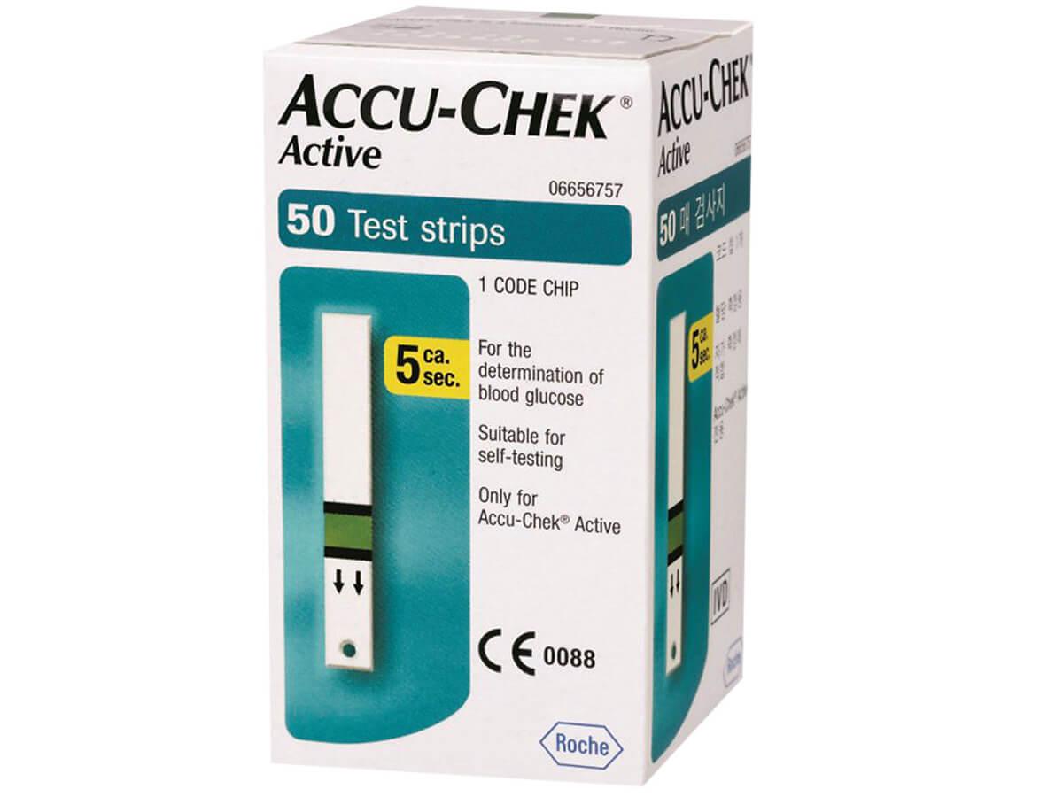 Que thử đường huyết Accu Chek Active 50