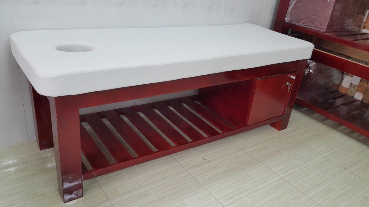 Giường massage chân gỗ có hộc
