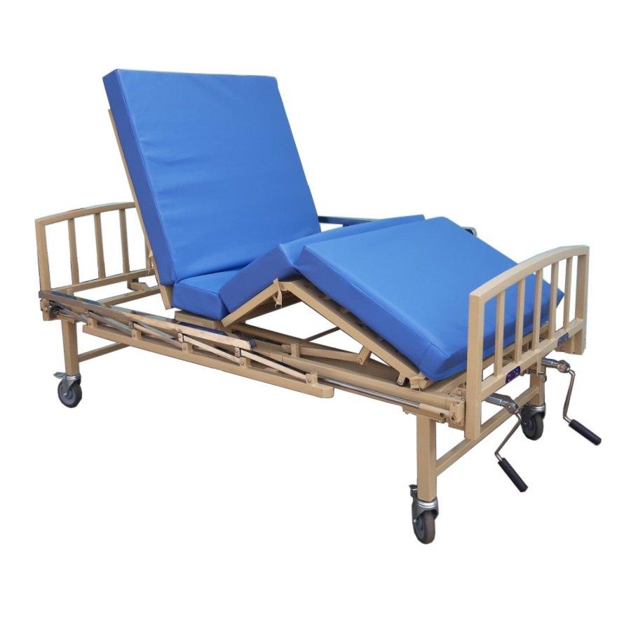 Giường y tế 2 tay quay sắt sơn tĩnh điện