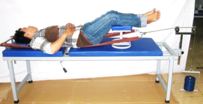 Giường kéo giãn cột sống lưng 2 khúc BH14