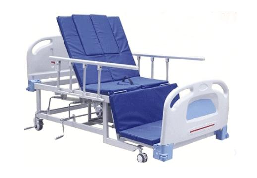 Giường y tế cơ khoét lỗ 4 góc nâng đầu BH-UC-K405S32