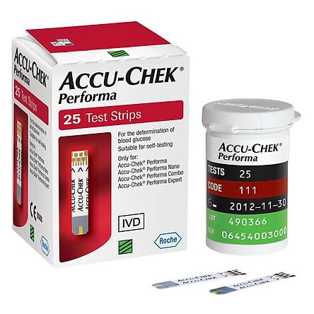Que thử đường huyết Accu-Chek Performa 25