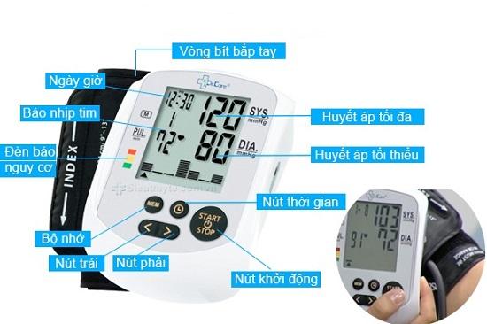 Máy đo huyết áp điện tử bắp tay MediKare-DK79